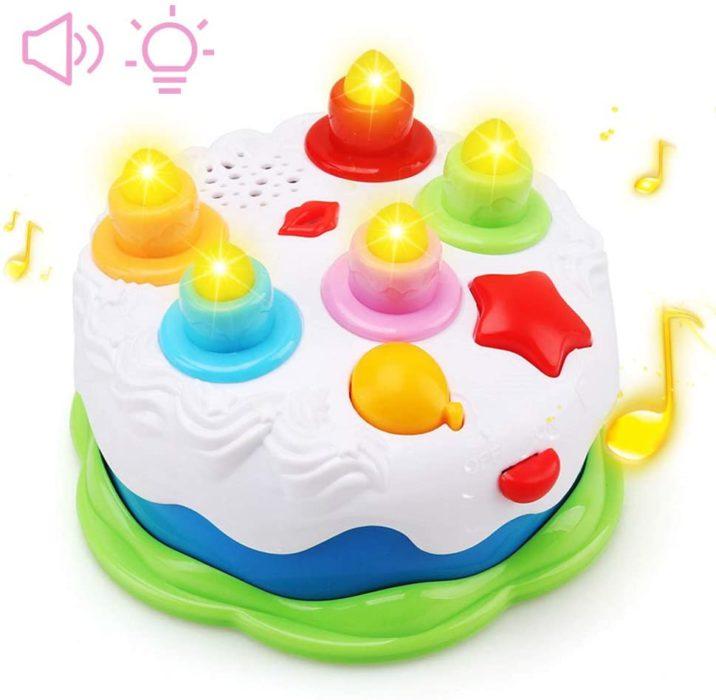 pastel de juguete para bebes